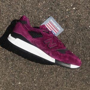 NEW New Balance 998 Deep Purple Suede Shoes USA